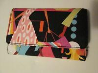 Girlie Novelty Print Tri-Fold Wallet, Multi-Color, NEW
