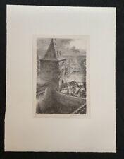 A. Paul Weber, Soester Tor, Lithographie, 1983, aus dem Nachlass, handsigniert