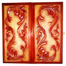 Backgammon Set Tracery Pattern, New Handmade Carved Board Game Piece Of Art 495