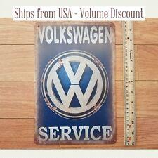 VW Sign Volkswagen Sign Volkswagen Service Volkswagen Metal Sign VW Service Sign