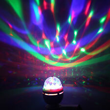 E27 3W RGB Multi-colors LED Bulb Crystal Ball Stage Light Club Bar Disco Yellow
