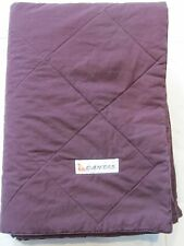 QANTAS INTERNATIONAL BUSINESS CLASS DUVET BLANKET DARK RED MAROON CLR UNSEALED