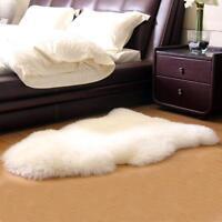 Sheepskin Furry Large Gorgeousl Real Australian Auskin Rug Cream White Sheep Fur