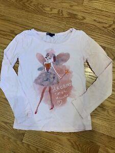 Gap Kids Girls Pink Fairy Fashion Shirt Dreams Come True Size 10