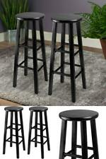 "Black Finish Wood Pacey Bar Stools Height 29"" Set of 2 Home Kitchen Pub Bar"