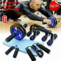 Muscle Training Workout Gym Wheel Ab Roller Home Fitness Exercise Kit  Fast Ship