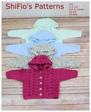 CROCHET PATTERN for BABY BOY GIRL JACKET IN  4 SIZES #2 NOT CLOTHES