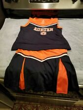 girls auburn tigers cheerleader outfit-size l-(girls-10-12)-preowned