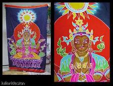 Batik Sarong Made in Bali Meditating Bodhisattva Deity Goddess Buddha