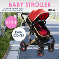 Baby Stroller 6In1 Foldable Pram Pushchair Travel With Bassinet FREE SHIPPING