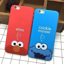 B007 Cartoon Cookie Elmo Soft TPU Slim Back Covers for IPhone 6 6s 5 5s SE Funny