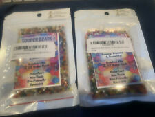 Sooper Beads Water Beads Rainbow Mix Two 2 Ounce Value Pack. Packages.