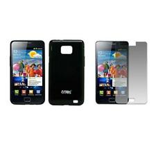 for Samsung Galaxy S II I9100 Black TPU Case+Screen Protector