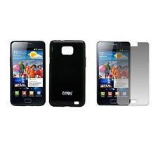 for Samsung Galaxy S II I9100 Black TPU Case+Screen Protector