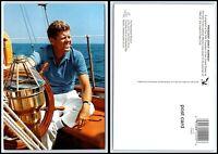 "Vintage Postcard - President John F. Kennedy On The Sailboat ""Manitou"" C6"