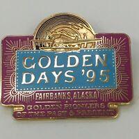 Vtg Golden Days 95 Fairbanks Alaska Pioneers Airplane Lapel Tack Pin
