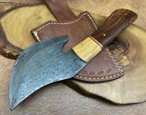 TITANs Handmade Damascus Steel small Axe Camping Crafts Gift Collectible 23cm