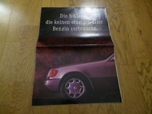 Mercedes Classe S 300 SD W140 brochure catalogue commercial sales