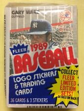 1989 Fleer Baseball Card Cello Pack Gary Ward Pat Perry Showing