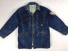 Navigare giubbotto giacca jeans 42 44 giubbino blu imbottito giaccone T516