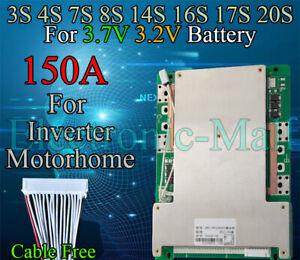 3S 4S 7S 8S 14S 16S 17S 20S 150A LiFePo4 LFP LiPo Li-ion Lithium Cells BMS Board