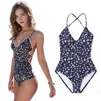 Women Monokini One Piece Swimsuit Swimwear Beach Padded Bikini Swimming Costume