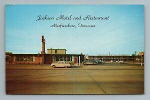 Jackson Motel and Restaurant Murfreesboro AAA TN Tennessee Postcard