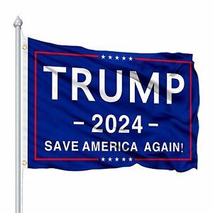 Trump 2024 Flag 3x5 Outdoor Indoor -  Save America Again Flag