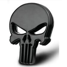 Punisher 3d metallo emblem badge sticker adesivo auto moto bike nero