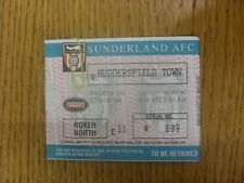 30/03/1996 Ticket: Sunderland v Huddersfield Town. Any faults are noted in brack
