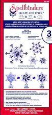 Spellbinders Shapeabilities cut fold tuck Dimensional Snowflakes Dies S5-186