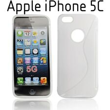 TPU gel silicone case cover S-line white for Apple iPhone 5C