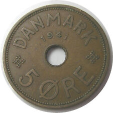 elf Faeroe Islands Denmark 5 Ore 1941  World War II