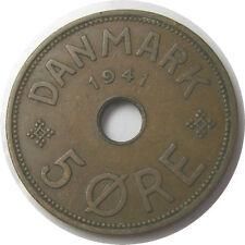 New listing elf Faeroe Islands Denmark 5 Ore 1941 World War Ii