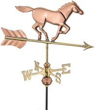 Good Directions Freestanding Horse Weathervane Outdoor Garden Polished Copper