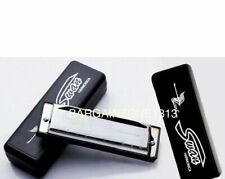 More details for silver swan harmonica 10 hole key of c for blues rock jazz folk harmonica uk sel