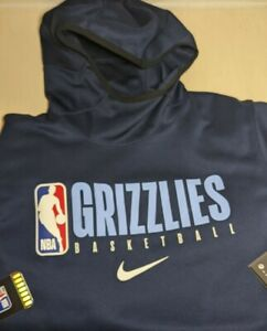 NIKE Memphis Grizzlies SPOTLIGHT HOODIE NBA TEAM Player ISSUE AV1360-419 Med