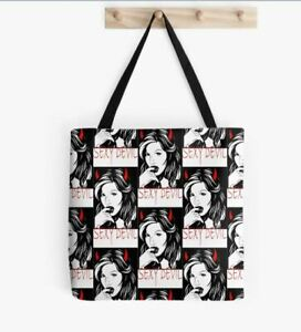Sexy Devil Reusable Womens Shopping Bag Shopper Handles Tote Beach Bags