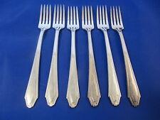 1881 Rogers PRESTIGE KESWICK Grille Fork Viande Silverplate Flatware Set Of 6
