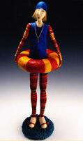 SALE - PATTERN - Dippin' Dottie - Beautiful art cloth doll PATTERN