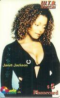 RARE / PHONECARD PREPAID - JANET JACKSON ( EDITION LIMITEE )