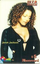 RARE / TELECARD PREPAID - JANET JACKSON / LIMITED EDITION