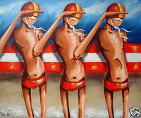 "24"" x 20"" canvas print abstract poster By Andy Baker COA australia beach bondi"
