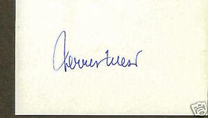 Jerry West vintage signed index card
