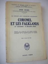 """GUERRE 14-18 / CORONEL ET LES FALKLANDS """"la chasse aux croiseurs allemands """""""
