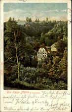 Hosterwitz Dresden Sachsen AK 1907 Fachwerk-Haus Kepp Mühle Gebäude Landschaft