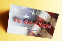 SET of 10 - THE BILL OF RIGHTS  -  WALLET- SIZE FOLDOVER CARD