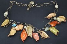 You & I Signed Real Leaf Leaves Charm Necklace - Perfect for Fall