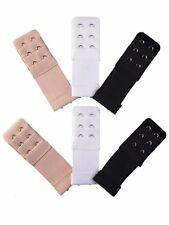 Set of 6 Bra Extender 2 Hooks with elastic 6 pieces Extensions  Free Shipping