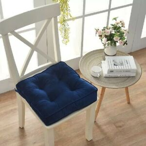 Square Thick Floor Seating Cushions,Solid Thick Tufted Cushion Meditation Pillow
